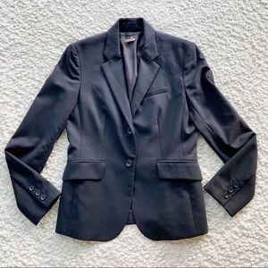 J Crew Factory Suiting Stretch Wool Blazer Black 4